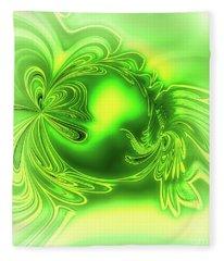 Gemstone Green Tourmaline Fleece Blanket