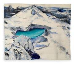 Gemstone Lake Fleece Blanket