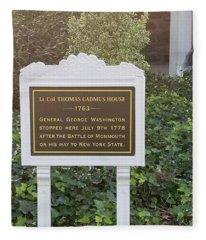 Gen. George Washington Stopped Here Fleece Blanket
