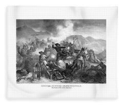 General Custer's Death Struggle  Fleece Blanket