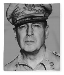 General Douglas Macarthur Fleece Blanket