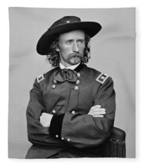 General George Armstrong Custer Fleece Blanket