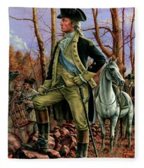 General George Washington Fleece Blanket