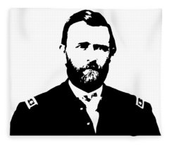 Us Civil War Digital Art Fleece Blankets