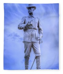 General John Buford Gettysburg Battlefield Fleece Blanket