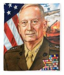 General Mad Dog Mattis Fleece Blanket