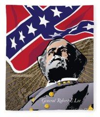 General Robert E. Lee At Appomattox Fleece Blanket