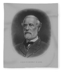 General Robert E. Lee Print Fleece Blanket