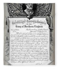 General Robert E. Lee's Farewell Address To Confederate Soldiers Fleece Blanket