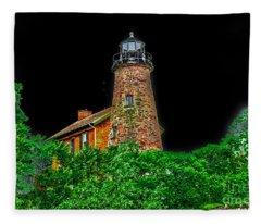 Genesee Lighthouse Fleece Blanket