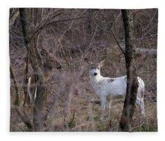 Genetic Mutant Deer Fleece Blanket