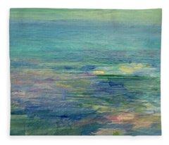 Gentle Light On The Water Fleece Blanket