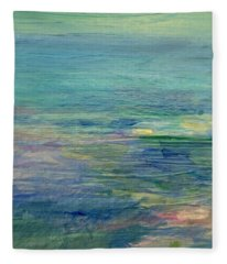 Gentle Light On The Water Fleece Blanket