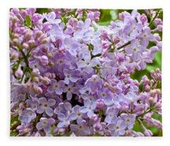 Gentle Purples Fleece Blanket