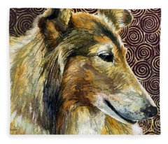 Gentle Spirit - Reveille Viii Fleece Blanket