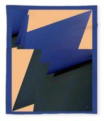 Geometric Abstract 4 Fleece Blanket
