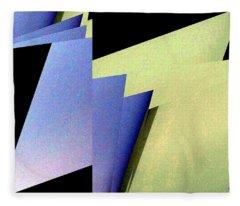 Geometric Abstract 5 Fleece Blanket