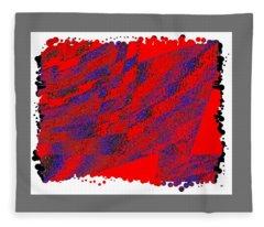 Geometric Abstract 7 Fleece Blanket