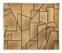 Geometric Abstraction IIi Toned Fleece Blanket