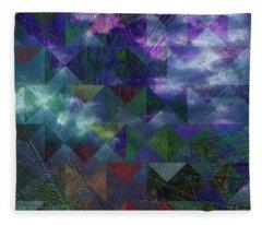 Geometric Cyclone Fleece Blanket
