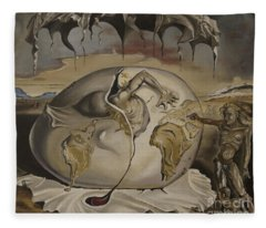 Dali's Geopolitical Child Fleece Blanket