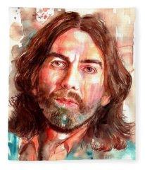 George Harrison Portrait Fleece Blanket