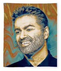 George Michael - Tribute  Fleece Blanket