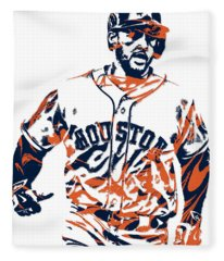 George Springer Houston Astros Pixel Art 1 Fleece Blanket