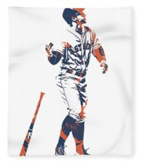 George Springer Houston Astros Pixel Art 12 Fleece Blanket