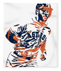 George Springer Houston Astros Pixel Art 2 Fleece Blanket