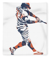 George Springer Houston Astros Pixel Art 30 Fleece Blanket