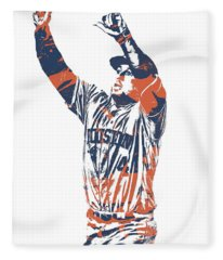 George Springer Houston Astros Pixel Art 31 Fleece Blanket