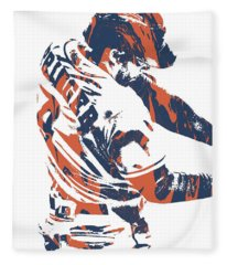 George Springer Houston Astros Pixel Art 32 Fleece Blanket