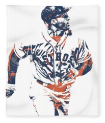 George Springer Houston Astros Pixel Art 34 Fleece Blanket