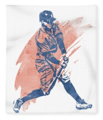 George Springer Houston Astros Water Color Art 2 Fleece Blanket
