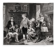 George Washington 1732 To 1799 Hears Fleece Blanket