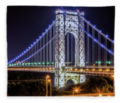 George Washington Bridge - Memorial Day 2013 Fleece Blanket