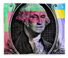 George Washington Pop Art Fleece Blanket