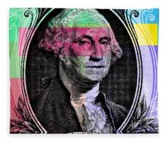 George Washington Pop Art Fleece Blanket