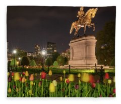 George Washington Standing Guard Fleece Blanket