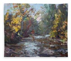 Georgetown Fall Colors Fleece Blanket