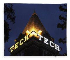 Georgia Tech Georgia Institute Of Technology Georgia Art Fleece Blanket