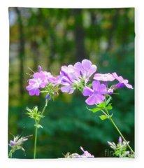 Geranium In Fall Fleece Blanket