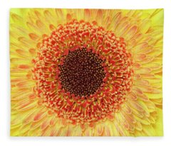 Gerber Daisy Fleece Blanket