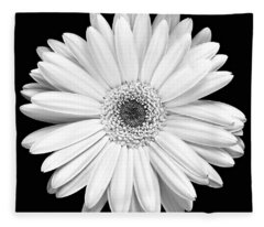 Single Gerbera Daisy Fleece Blanket