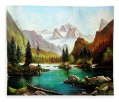 German Alps Fleece Blanket