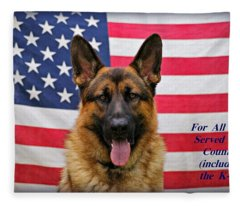 German Shepherd - U.s.a. - Text Fleece Blanket