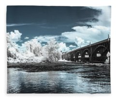 Gervais St. Bridge-infrared Fleece Blanket