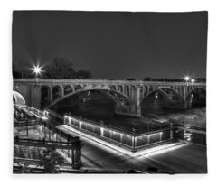 Gervais Street B-w Fleece Blanket