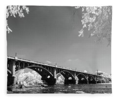 Gervais Street Bridge In Ir1 Fleece Blanket